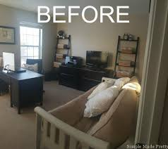 Office Guest Bedroom - how to organize your home office our shared office and guest room