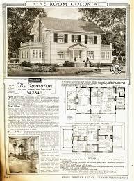 Historic Colonial House Plans Sears Lexington Sears Modern Homes