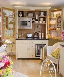 kitchen idea for kitchen with pantry using white free standing