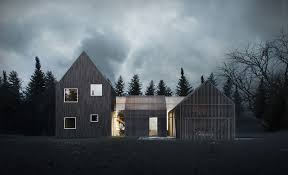 pitched roof inhabitat green design innovation architecture sophisticated minimalist house in denmark lets you enjoy the outdoors even in the winter