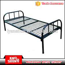 Single Bed Iron Frame Dubai Best Selling Steel Used Single Folding Bed Iron Single Bed