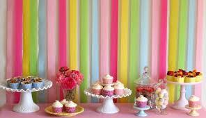 Streamer Chandelier Decoração Para Festa Infantil Com Papel Crepom Candyland
