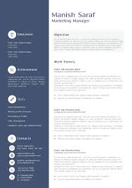 Free Marketing Resume Templates Free Project Manager Resume Template Exles Ms Word Sales