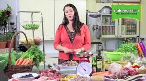 what is in natures menu raw food youtube