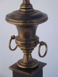 Urn Table Lamp Brass Lamp Antique Brass Urn Table Lamp W Vintage Stiffel Label