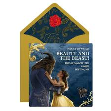 beauty and the beast u0027 party online invitation disney family