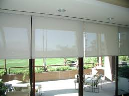 Inexpensive Window Treatments For Sliding Glass Doors - patio ideas diy outdoor roller shades sliding door roller shades