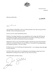 pm u0027s letter to herald journalist joanne mccarthy newcastle herald
