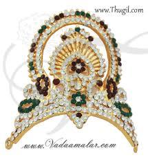 thugil store 2 2 inch small size hindu deity crown mukut