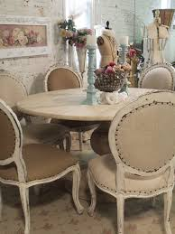 shabby chic round dining table painted cottage chic shabby french linen round dining table farm