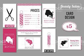 beauty salon business card design templates with womans profile