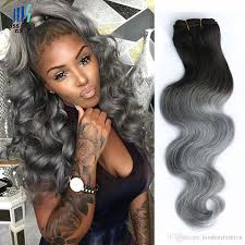 Two Tone Ombre Hair Extensions by Cheap 4 Bundles T 1b Dark Grey Ombre Human Hair Bundles Two Tone