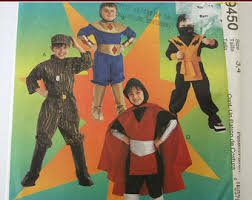 sewing pattern ninja costume mccalls 7214 childs boys girls character costumes sewing pattern