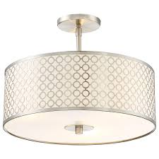 Nickel Ceiling Light Semi Flush Ceiling Light By George Kovacs P1267 084