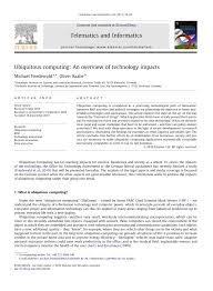 ubiquitous computing an overview of technology impacts pdf