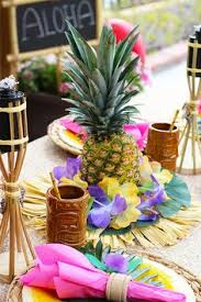 luau table centerpieces easy pineapple luau centerpiece pineapple centerpiece