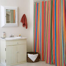 Steel Grey Curtains Fabric Shower Curtains Steel Ring Hooks Pedestal Sink Beside