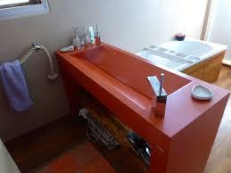 meuble sous vasque sur mesure plan vasque lavoir double pente balian beton atelier