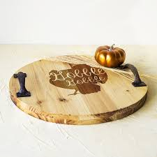 engraved tray engraved turkey wood tray with metal handles free shipping today