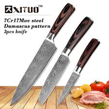 japanese steel kitchen knives xituo 8 5 3 5 japanese chef knife set 3 pcs damascus steel pattern
