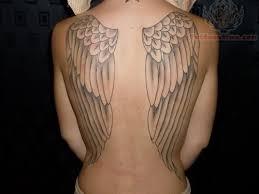 cute angel wings full back body tattoos for women tattoomagz