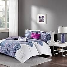 Bed Bath And Beyond Queen Comforter Intelligent Design Mila Comforter Set In Purple Bed Bath U0026 Beyond