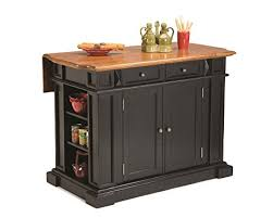 distressed kitchen island amazon com home styles 5003 94 kitchen island black and
