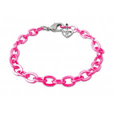 chain link charm bracelet images Pink chain link bracelet shop charm it jpg