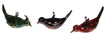 blown glass ornaments glass ornaments bird