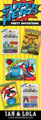 Superhero Invitation Card 53 Best Character Invitation Designs Images On Pinterest