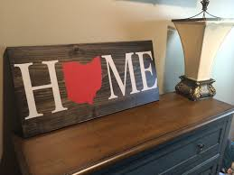 gifts for home decor peaceful design ideas ohio state home decor wood sign custom rustic