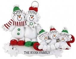 personalised decorations for family of 5 personalised