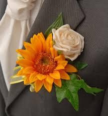 Artificial Sunflowers Grooms Golden Silk Sunflowers U0026 Rose Wedding Buttonhole Sarah U0027s