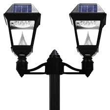 solar powered lamp post tops solar porch light fence post lights