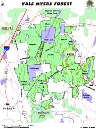 Connecticut State Map by Echpc Trails U0026 Recreation
