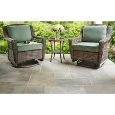 Grey Wicker Patio Furniture by Hampton Bay Spring Haven Grey All Weather Wicker Patio Swivel