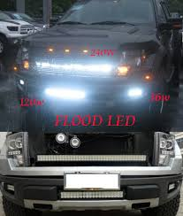 led tractor light bar 240w high power white bright flood led work light 4x4 jeep off road