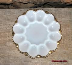 milk glass egg plate king milk glass egg plate by mountainattic on etsy 13 00