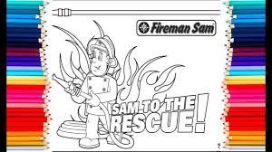 fireman sam coloring kids colour fireman sam