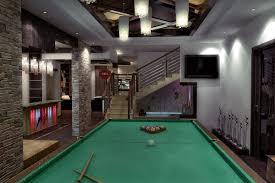 Pool Table In Living Room Open Space Living Room Billiard Room Bar Swim Pool Garden Room