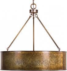 Galvanized Pendant Light Stunning Uttermost 22067 Wolcott Retro Golden Galvanized Drum