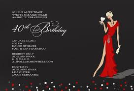 40th birthday invitation wblqual com