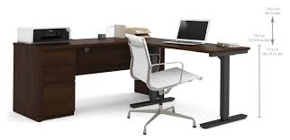Conset Height Adjustable Desk by Red Barrel Studio Bormann L Shape Standing Desk With Height