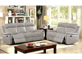 Grey Recliner Sofa Gray Leather Reclining Sofa Fashionable Home Ideas