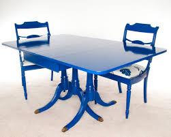 blue painted dining table wonderfull design blue dining table majestic looking blue dining