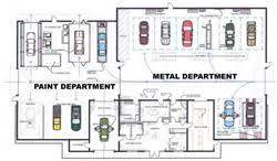 Shop Floor Plans Floor Plan Of Shop Specialty Paint U0026 Body