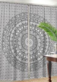 amazon com indian cotton elephant mandala window door cover