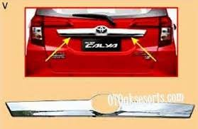 Daihatsu Sigra Trunk Lid Cover Chrome aksesoris mobil daihatsu 盪 aksesoris mobil sigra 盪 sgr 78 trunklid
