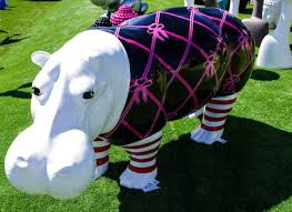 animaux resine jardin hippopotame en résine cielterre commerce