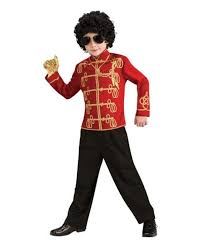 Halloween Costumes Military Red Michael Jackson Military Jacket 80s Boys Costumes